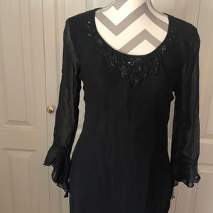 NWT Black midi dress